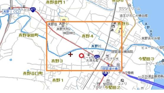 今の真野周辺地図(宿)
