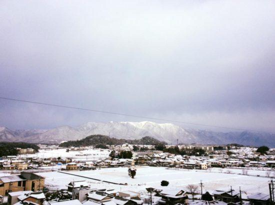 比良山脈 暮雪